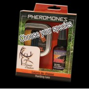Kit of 2 vials Pheromones Whitetail with 60ml scent (choose your species)