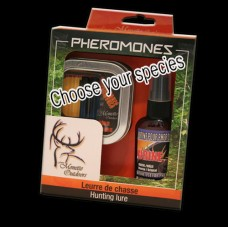 Kit of 2 vials Pheromones Whitetail with 60ml scent (choose your species) Whitetail