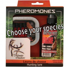 Kit of 4 vials pheromone Bear with 100 ml scent