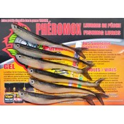 FISH MENOW,6 menox sillicon artificial lures.